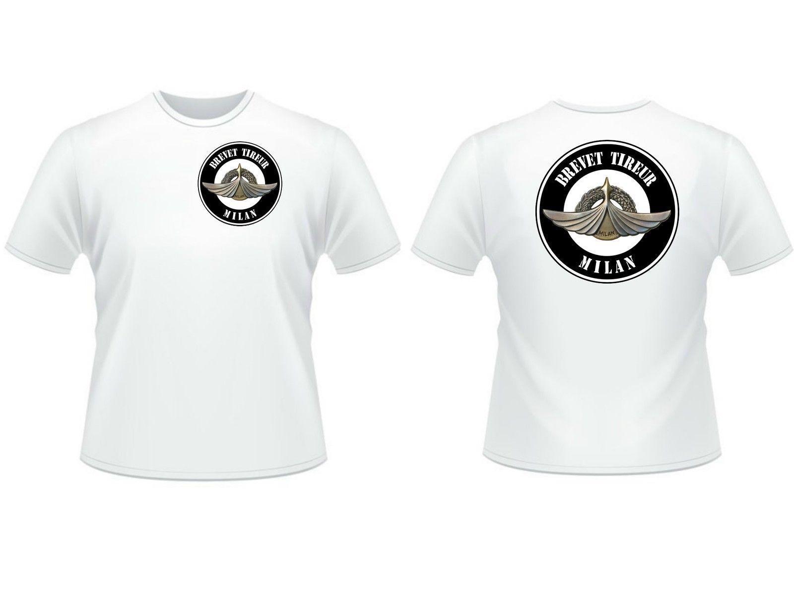 2018 Men Cool Tee Shirt T-SHIRT  BREVET TIREUR MILAN  recto / verso - Section ANTI CHAR infanterie Summer T-shirt