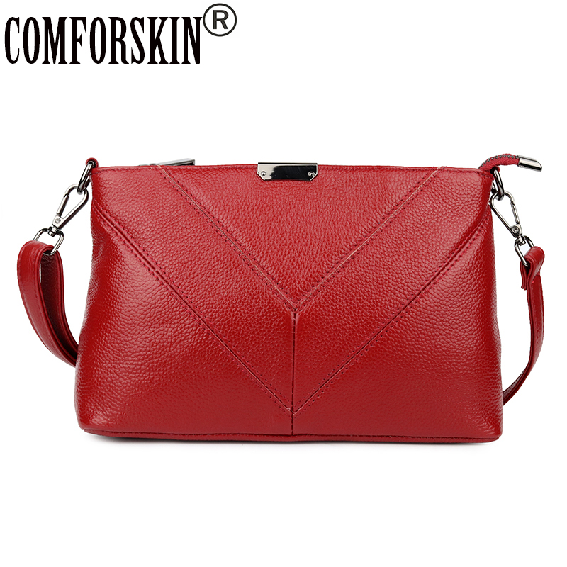 COMFORSKIN Bolsas Feminina Luxurious Genuine Leather Fashion Messenger Bag New Arrivals European and American Ladies Handbags