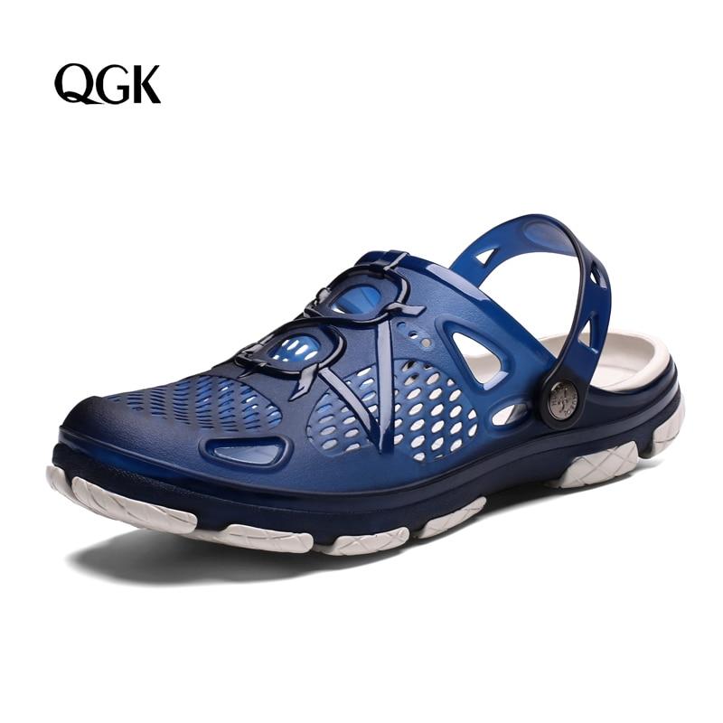 QGK New Men Sandals Summer Flip Flops Slippers Men Outdoor Beach Casual Shoes Cheap Male Sandals Water Shoes Sandalia Masculina