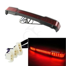 Red LED Tail Light Trunk King Tour Pak Wrap Around Fit For Harley Street Glide Electra Classic Pack 97-08