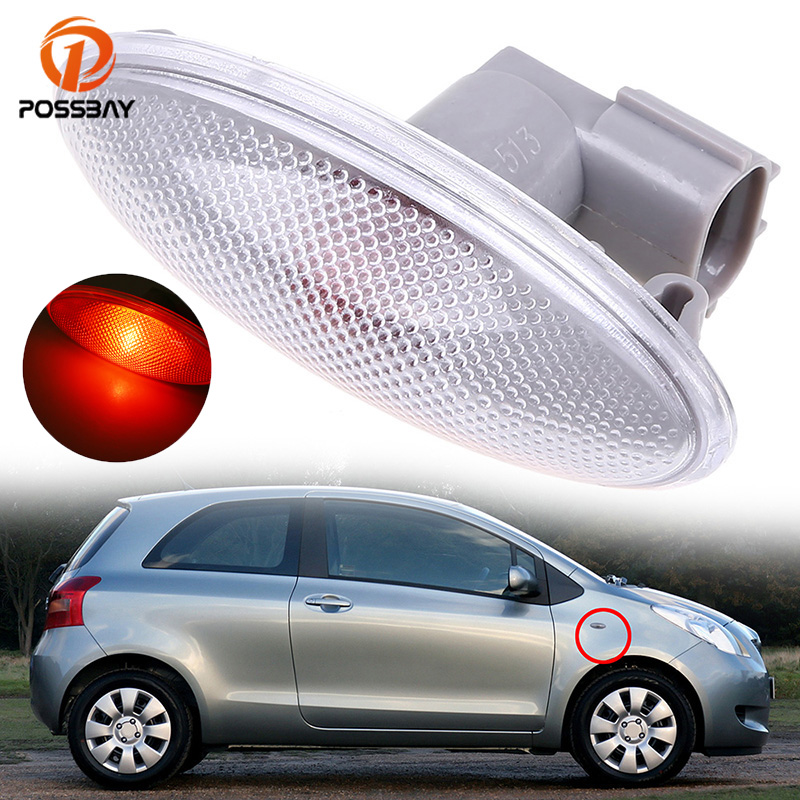 POSSBAY LED Car Side Turn Signal Light Fender font b Lamps b font Amber Indicator Lights