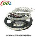 Tira CONDUZIDA 5730 Luz Flexível DC12V 60 LEDs/m 5 M/lote, 5730 Tira Mais brilhante do que 5630/5050/3528 Tira.