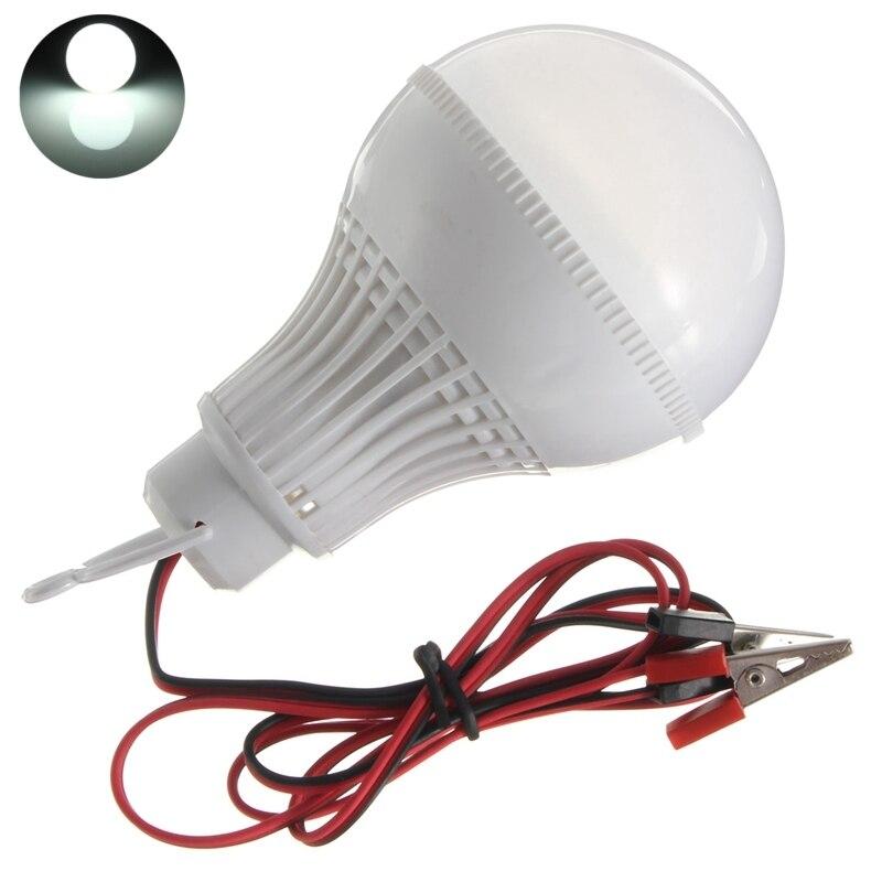 Super Bright 9W 5730 SMD 18 LED Lamp Bulb E27 LED Bulb Cold White Wire Solar Globe LED Light Bulb DC12V Home Decoration Lights