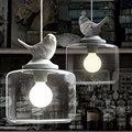 Фонари ресторан Droplight нордическая птица Droplight творческая личность ретро люстры современный стеклянный подвесной светильник с лампой