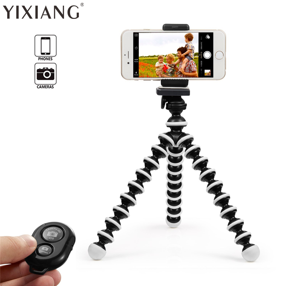 YIXIANG Mini Flexible Octopus Tripod for iPhone Samsung Xiaomi Huawei Mobile Phone Smartphone Tripod Camera Accessory duszake dt2 camera mini tripod for phone stand aluminum for iphone tripod for phone camera mini tripod for mobile gorillapod