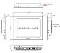 12,1 дюймов промышленных Панель PC, 5th поколения i3 5010U Процессор (3 м, 2,10 ГГц), 5 провод сенсорный экран, 2 * COM/4 * USB/2 * Глан/2 * HDMI