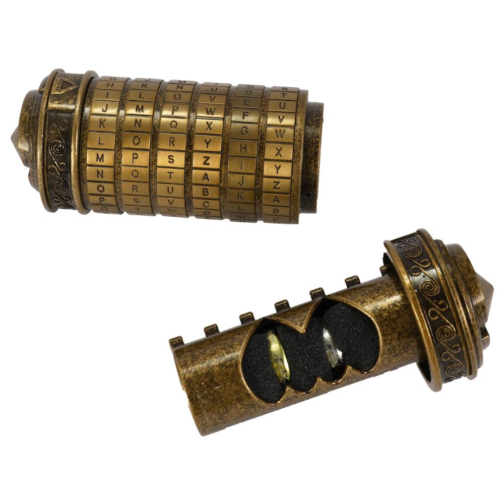 Rétro anniversaire cadeau cylindre Lockbox Code Alphabet serrure romantique anniversaire jour cadeau saint valentin à petite amie cadeau