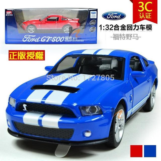 1 32 Alloy Toy Car Models Ford Mustang Gt Coupe Kids Baby Toys Hot Wheels For Children Like Train Not Plastic