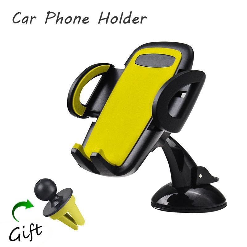 imágenes para 1 Unidades coche soporte para teléfono móvil soporte de teléfono universal soporte para iphone 6 6 s más 7 para samsung s4 s5 s6 s7 edge suporte celular