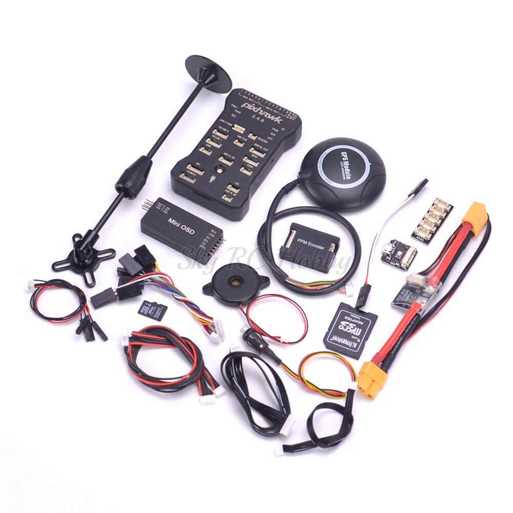 Pixhawk PIX 2 4 8 32 Bit Flight Controller w Safety Switch Buzzer M8N GPS Mini