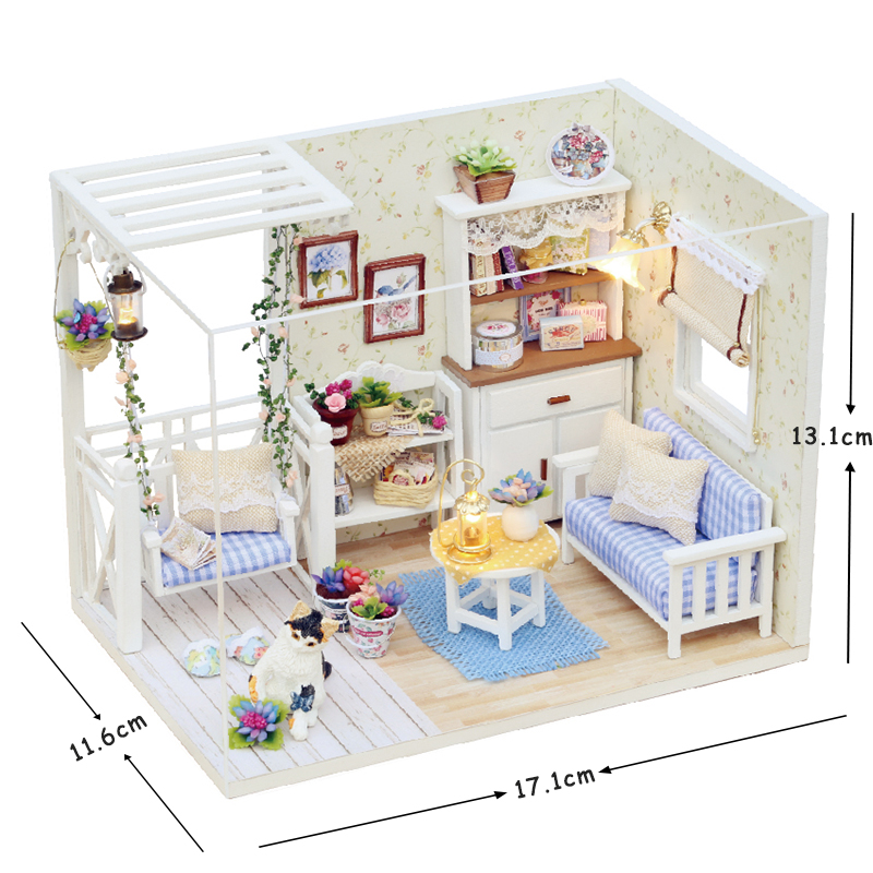 Doll-House-Furniture-Diy-Miniature-Dust-Cover-3D-Wooden-Miniaturas-Dollhouse-Toys-for-Children-Birthday-Gifts-Kitten-Diary-1