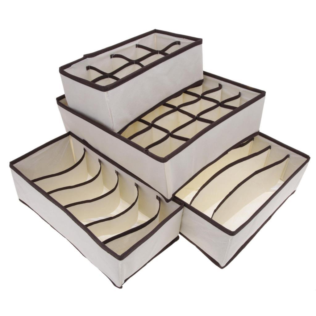 4 PCS Set Foldable Shoes Box Under Bed Closet Storage Organizer Case Holder Folding