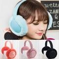 Warm Winter Plush Earmuffs Headphones 3.5mm Wired Ear Warmer Protector Wired Headset Portable