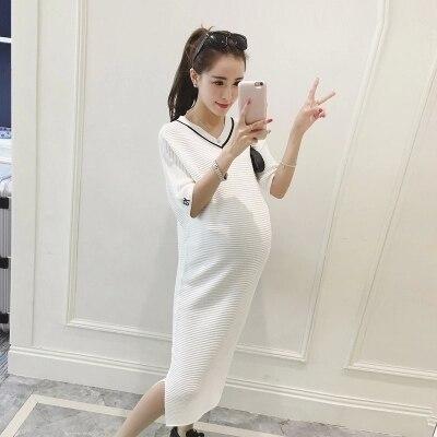 fa1cf1734e8 Black Cotton Maternity Dresses Clothes for Pregnant Women Clothing Half  Sleeve Slim Pregnancy Dress Wear 2016