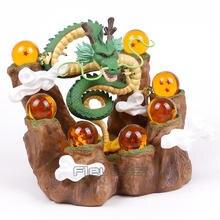 The Dragon Shenron +Tree Stump Stand+7 Crystal Balls Toy