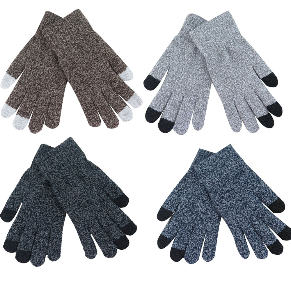 Mens leather gloves for iphone - 2017 Women Men Multi Function Knitted Screen Winter Gloves Soft Warm Mitten For Iphone Smartphones