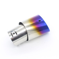 Dongzhen Stainless Steel Car Exhaust Pipe Grilled Blue Tail Muffler Tip Car Exhaust Silencer System Fit