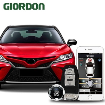 Camry 2017 car accessories Keyless Entry Comfort System PKE Phone APP Remote Start Car Engine Car Alarm Push  913