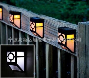 Garden Decoration Lighting Fence Lights Solar Led Corridor Wall Light Panel 2colors Free