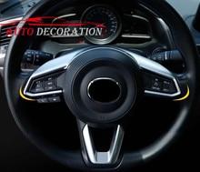 Mate Car styling Accesorios Interiores Decoración Volante Cubierta de Marco 1 * Para Mazda CX-5 CX5 $ number ª generación 2017 2018