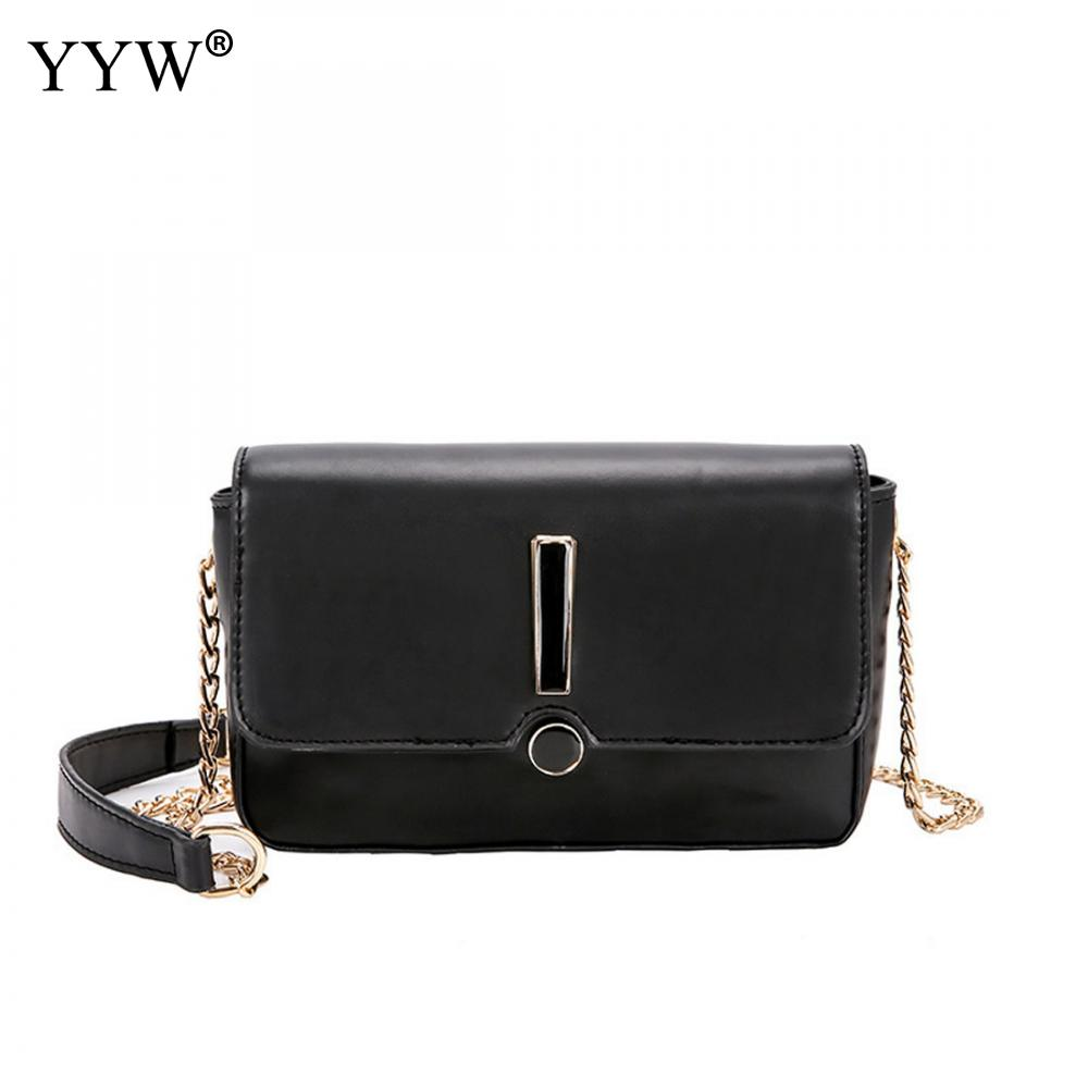 YYW Pu Leather Shoulder Bag Small Hot Sale Crossbody Bag For Girls Fahsion Trendy Bolsa Feminina Cheap Women'S Chain Bags