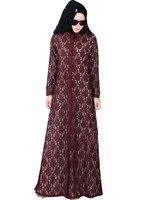 Moslim vrouwen jurk djellaba kant abaya plus size boerka turkse dubai gewaad hoge kwaliteit 3 kleuren caftan KJ150817