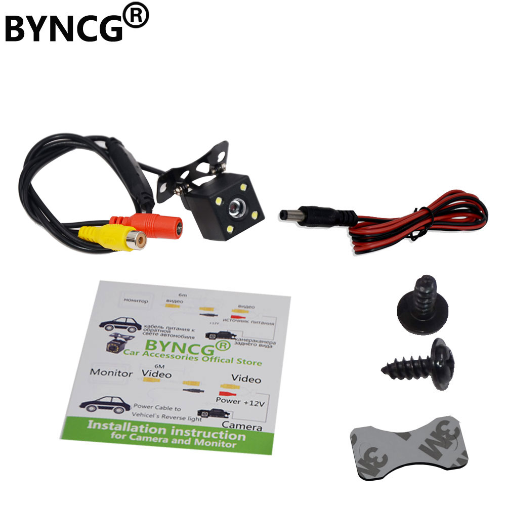 Autoradio Parking Rear View Camera For Renault Fluence Renault BMW Toyota Nissan Duster With 4LED & WaterProof  Night Vision