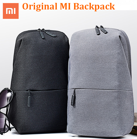New Original Xiaomi Backpack Men Women Crossbody Small Size Shoulder chest  Pack Messenger bag Rucksack for camera DVD phones -in Bags from Consumer ... 4eff2f243b5d1