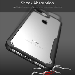 For Iphone 8 Case Iphone 8 plus case Luxury silicone frame + acrylic transparent back cover case for Iphone 8 7 7 plus 3
