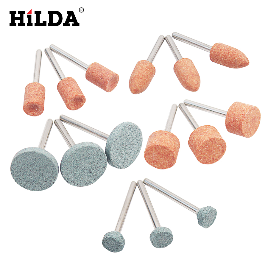 HILDA 15pcs/set Abrasive Mounted Stone For Dremel Rotary Tools Grinding Stone Wheel Head Dremel Tools Accessories  цены