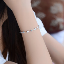TJP Latest Heart 925 Silver Bracelets For Women Jewelry New Fashion Girl Silver Anklets For Lady Party Accessories Hot Christmas