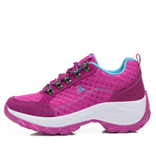 Manufacturer Summer Increasing Outsole Ladies Sports Breathable Mesh Outdoor Shoes Women's Sport Shoes Walking Sneakers Female