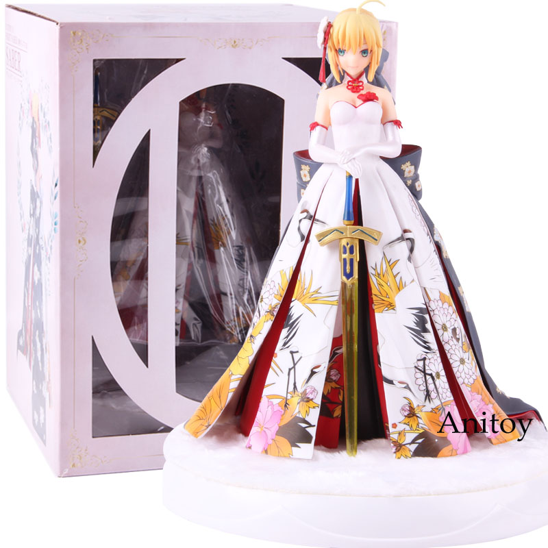 Fate Stay Night Saber Kimono Dress Ver. PVC Fate Action Figure Collectible Model ToyFate Stay Night Saber Kimono Dress Ver. PVC Fate Action Figure Collectible Model Toy