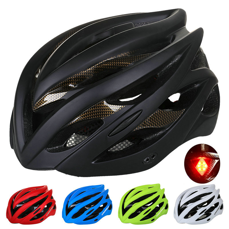 KINGBIKE 2017 New Design Matte Black Bicycle Helmets MTB Mountain Road Cycling Helmet Bike With Back Light Casco Ciclismo