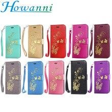 Золото Бабочка Кожа Case Для Apple iPhone 5C 6 6 S 6 Плюс 6 S Плюс Case Флип Бумажник Стенд Для iPhone 5C Телефон Обложка Case капа