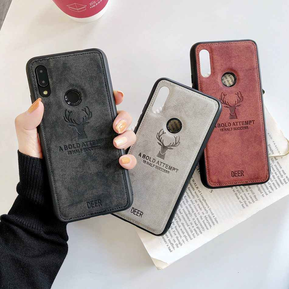 For Redmi Note 7/Note 6 Xiaomi Mi A2 lite Case Redmi Note 5 Pro Fashion Elk Pattern Silicon TPU Cloth Texture Case For Redmi S2