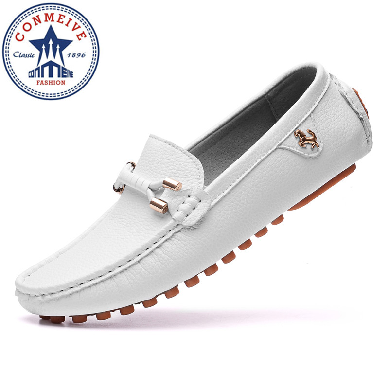 2017 New Brand Summer Causal Shoes Men Loafers Genuine Leather Man Driving Shoes High Quality Flats for Man summer causal shoes men loafers genuine leather moccasins men driving shoes high quality flats for man