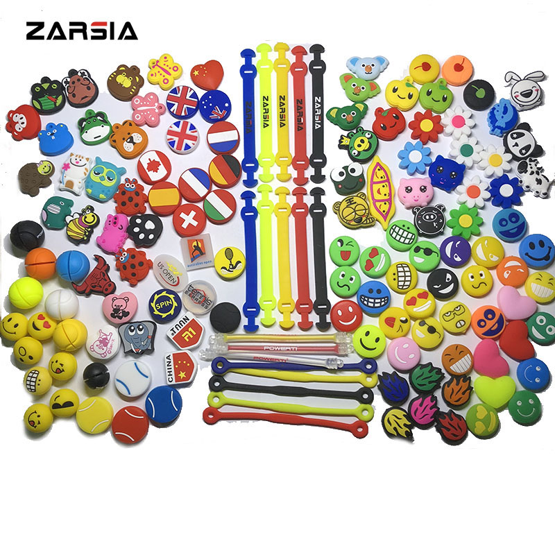 150 Pcs (Assorted Types) Tennis Racket Vibration Dampeners,Tennis Damper Dampener Shock,tennis Accessories