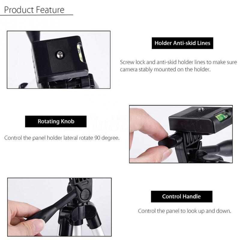Tripods camera stand cam smartphone mobile phone holder monopod tripe extension stick tripod for camera standaard                (4)
