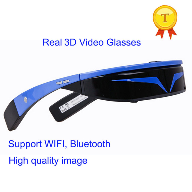 2018 factory CE/ROHS listed Virtual Wide Screen Video Glasses Eyewear smart Wearable 3D vr smart glasses with Android 5.1 wifi цена