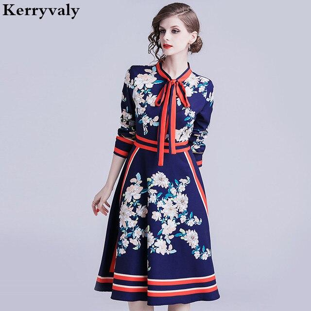 439e3808c76 Printemps femmes à manches longues rétro imprimé robe mi-longue Vestidos  décontracté Mujer 2019 automne Goth robe de soirée Zomer Jurk Dames Jurken  K338