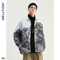 INFLATION New Arrivals Chinese Style Shirt Men Novelty Modis Long Sleeve Shirts 2019 Autumn New Style Male Casual Shirts 92138W