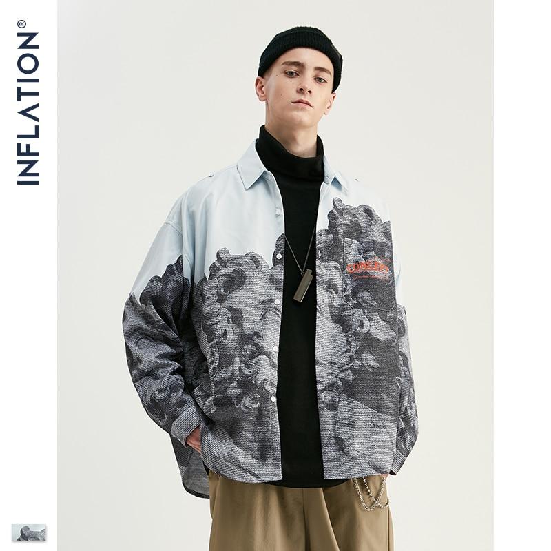 Мужская рубашка в китайском стиле INFLATION, Повседневная рубашка с длинным рукавом, 92138 Вт, Новинка для осени 2020|Повседневные рубашки|   | АлиЭкспресс - Рубашки