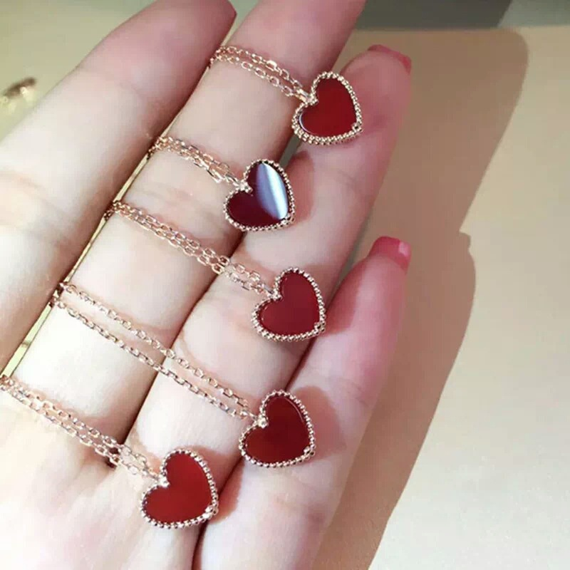 brand designer 925 sterling silver AAA cubic zirconia heart love choker necklace&pendant for women famous brand jewelry