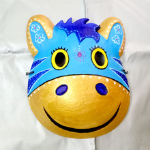 New Quality Handmade DIY Mask Halloween Golden hippo Mask Cosplay Costume Paper Mache Pulp Mask