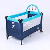 Folding Baby Bed Multifunctional Portable Baby Bed Bed Outdoor Game Free Installation Table