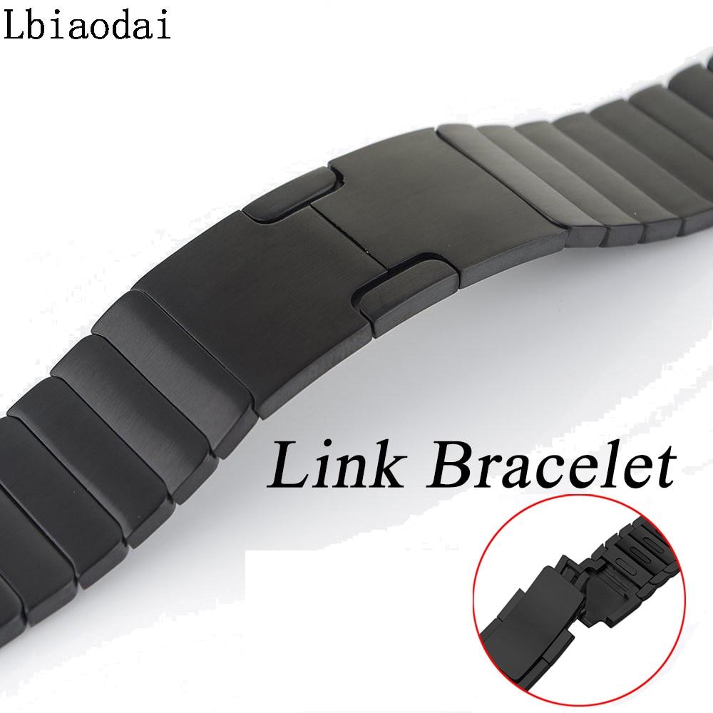 Ремешок из нержавеющей стали для Apple Watch группа мм 42 мм 38 мм 44 мм 40 мм ссылка браслет наручные Ремешки для наручных часов ремень iwatch серии 4/3/2/1