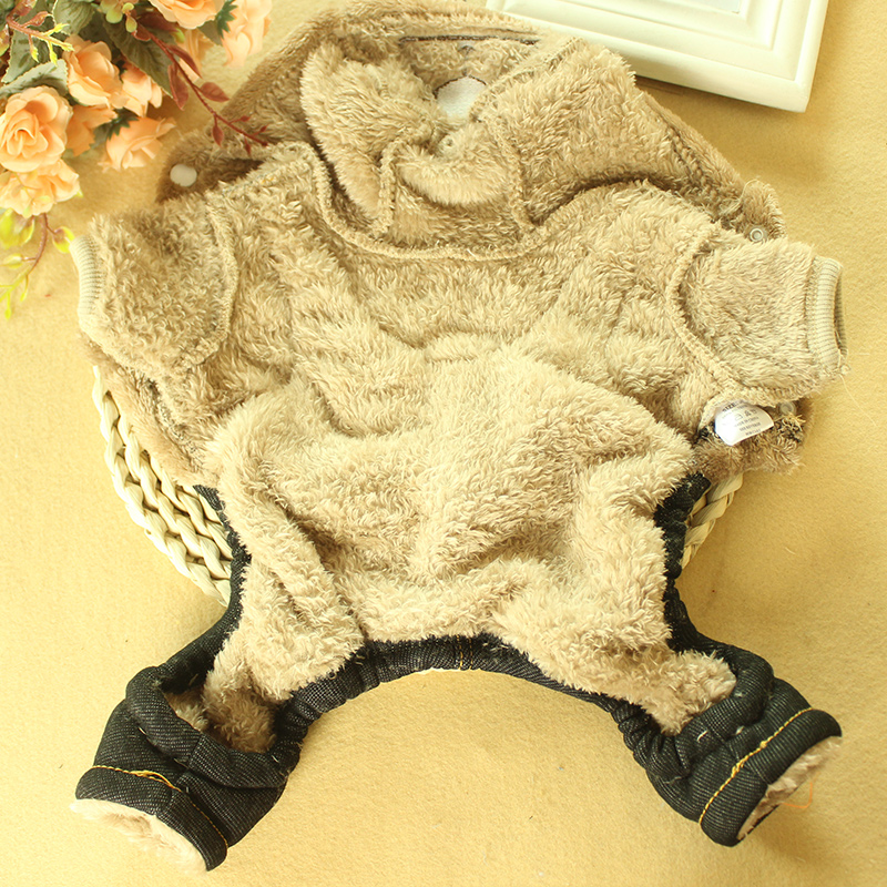 Winter Pet Dog Jumpsuit For Small Dogs Fleece Cotton Pet Dog Sweater Puppy Jumpsuit Yorkie Romper Cat Dog Jumpsuit Clothes RQ005 (6)
