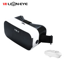 "VR i7 3Dแว่นตาคู่-นูนที่มีPMMAฟองน้ำหมวกกันน็อคแว่นตาสำหรับ4.7-6.0 ""โทรศัพท์+บลูทูธGamepadควบคุม"