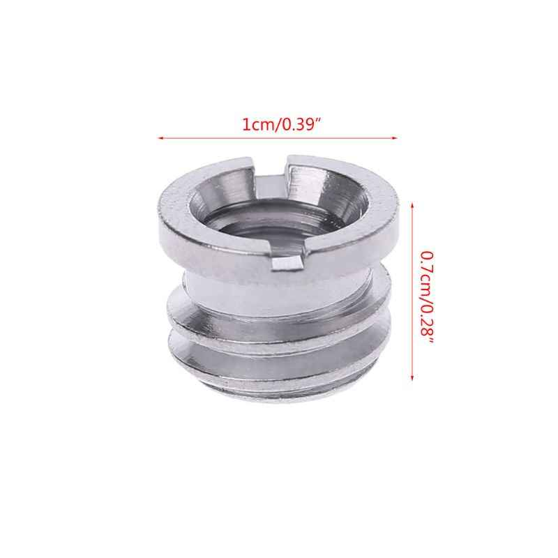 "1Pc 1/4"" To 3/8"" Camera Screw Nut Connecting Adapter Tripod Converter Supports"